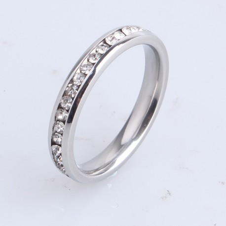 Crystal Wedding Ring-White