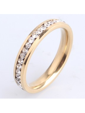 Crystal Wedding Ring-Yellow